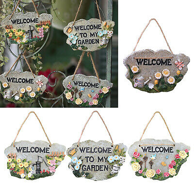 £10.09 • Buy Resin Welcome Door Sign Plaque For Home Cafe Office Garden Decoration
