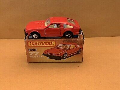 AU42.52 • Buy Matchbox Superfast No. 77 Toyota Celica Red Body Black Hong Kong Base Boxed