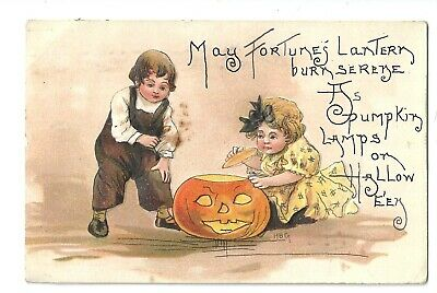$ CDN12.09 • Buy Signed Halloween Postcard 'HBG' In Excellent Condition! NR