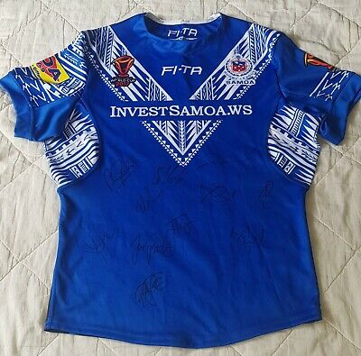AU133 • Buy Samoa 2017 Rugby League World Cup Signed Players Jersey