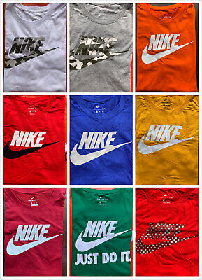 $20.95 • Buy Men's NIKE T-SHIRT S-4XL Graphic Swoosh-Just-Do-It Logo Crew Athletic Fit Tee