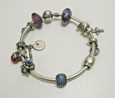 AU3.25 • Buy Pandora Charm Bangle With 11 Charms Attached Bids From $1
