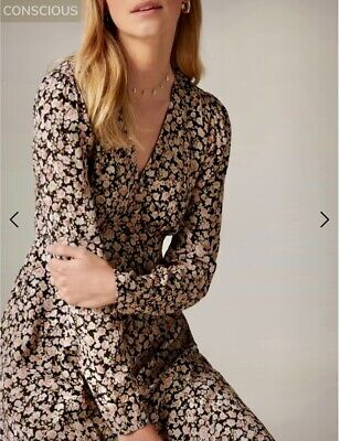 AU40.38 • Buy BNWT Forever New Size 6-8 Lucile Long Sleeve Mini Dress CURRENT SEASON! RRP$139