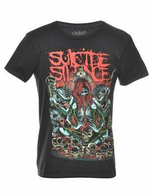 £9.60 • Buy Vintage Suicide Silence Band T-shirt - S