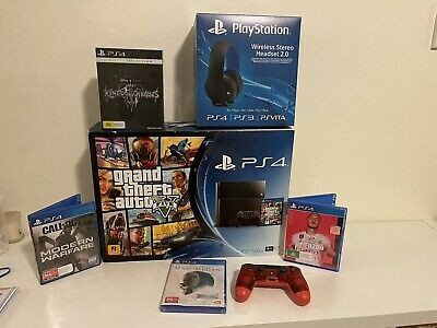 AU193.50 • Buy Playstation 4 Bundle PS4 Wireless Headset PS4 Controller And Games