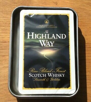 £10 • Buy Playing Cards Collectible Pack.Highland Scotch Whisky.In Protective Tin Box