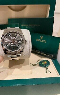 AU13500 • Buy New Unworn Rolex Datejust 41 126300 'Wimbledon' Smooth Bezel With AD Receipt