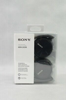 £6.50 • Buy Sony MDR-ZX310 Over Ear Wired Headphones Black Colour New Sealed Box