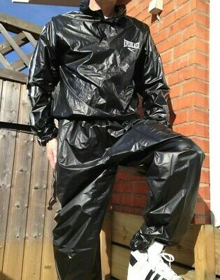 £89.99 • Buy Everlast Sauna Suit Shiny Cal Surf Glanz Sexy Scally Chav Int Top Pants WetLook