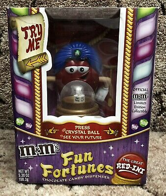 £16.46 • Buy M&M's The Great Red-Ini Fun Fortunes Chocolate Candy Dispenser Ltd Collectible