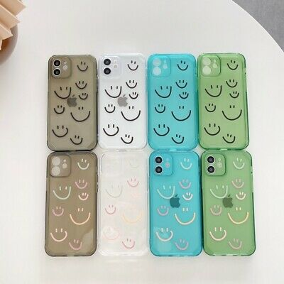 AU5.94 • Buy Cute Clear TPU Smile Face Soft Phone Cover Case For IPhone 7 8 11 12Pro Max X XR