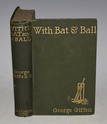 AU1.77 • Buy SIGNED By AUTHOR George Giffen WITH BAT AND BALL 25 Years CRICKET 1898