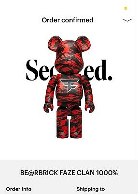 $749 • Buy Bearbrick Faze Clan X Medicom Size 1000% XL Sold Out Be@rBrick
