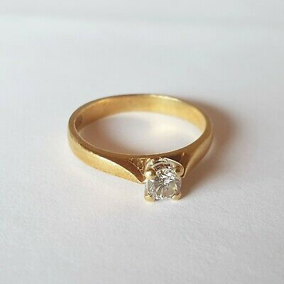 AU51 • Buy Superb Quality Solid 18kt Gold Solitaire 0.25ct Diamond Ring Incl. Valuation