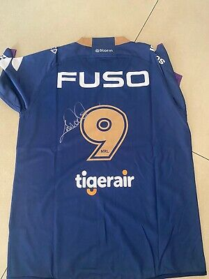 """AU249.99 • Buy Cameron Smith Signed 400 Games Melbourne Storm Jersey """"Photo Proof """" 2021"""
