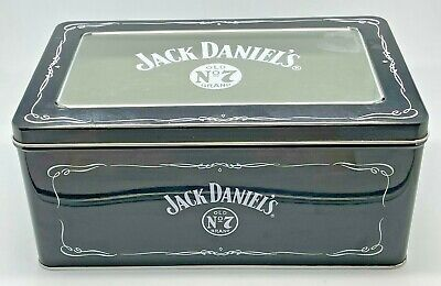 £14.99 • Buy Jack Daniels Empty Clear Fronted Metal Tin - Container Holder Storage