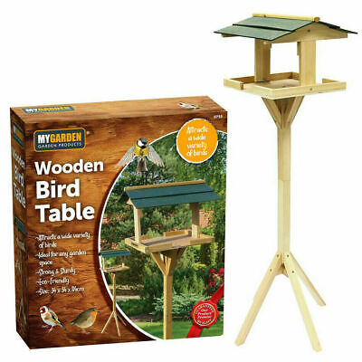 £21.95 • Buy Traditional Wooden Wild Bird Deluxe Feeding Station Table Free Standing Green Uk