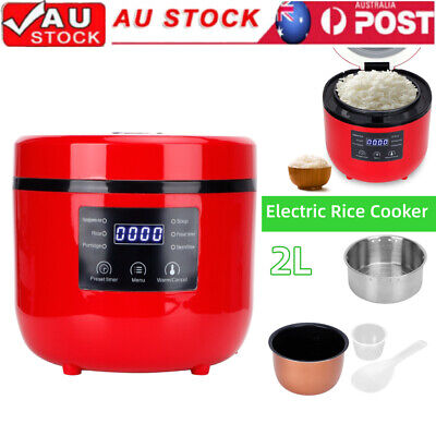AU75.98 • Buy 2L Electric Desugar Rice Cooker With Food Steamer Tray Multi Function Cooking AU