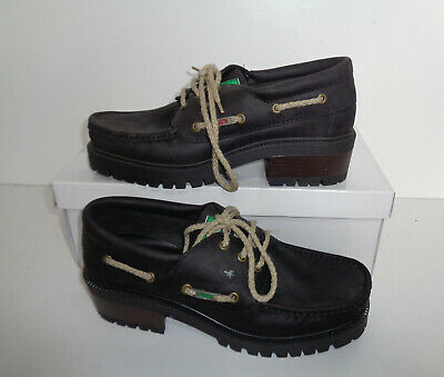 £54.98 • Buy Dubarry Made In Ireland New Ladies Black Leather Flats Deck Boat Shoes Size 6.5