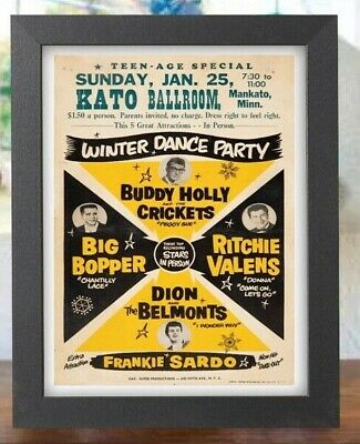 $12.99 • Buy Ritchie Valens Buddy Holly Big Bopper Rock 50s 60s Winter Dance Concert Poster
