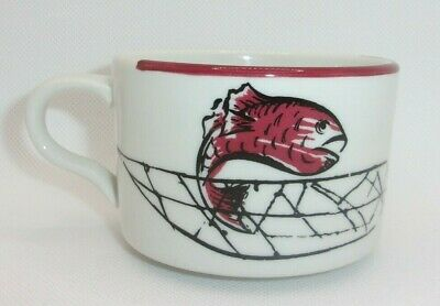 AU12.74 • Buy Mayer China Restaurant Ware Coffee Cup Red Fish Boat Fishing Net