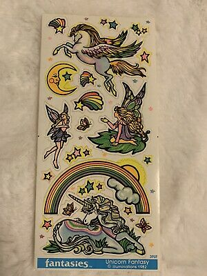 AU11.43 • Buy Vintage 80's Sticker Illuminations Unicorn