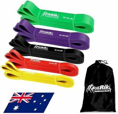 AU43.80 • Buy FitRik Skin Friendly Heavy Exercise Resistance Bands Set - 5 Levels Multi-colour