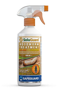 £10.22 • Buy SAFEGUARD Soluguard Woodworm Treatment - Ready For Use High Strength Woodworm