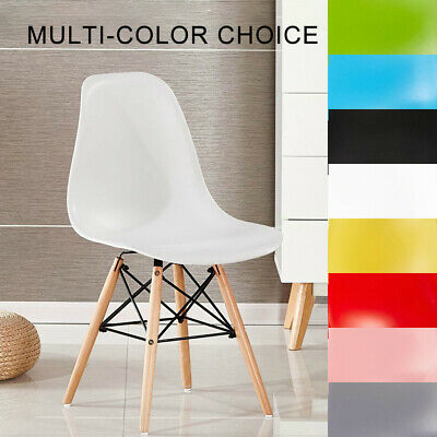 AU114.19 • Buy 4x Retro Replica Dining Chairs Chair Kitchen Cafe Wood Leg Wooden Black White