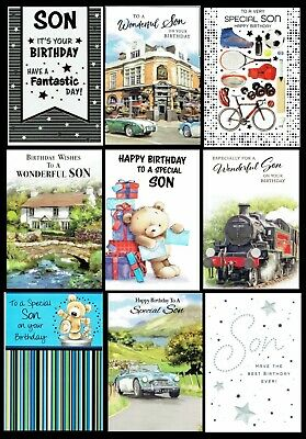 £1.20 • Buy SON ~ QUALITY BIRTHDAY CARD Choice Of Designs Cute Or Traditional
