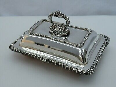 £25 • Buy Antique Or Vintage Small Ornate Silver Plated Entree Dish