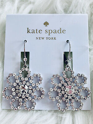 $ CDN36.39 • Buy 🆕 Kate Spade Crystal Lace Flower Statement Dangle Earrings Sparkle Bling New