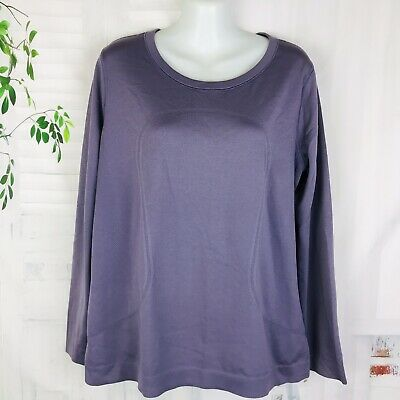 $ CDN47.31 • Buy Lululemon Long Sleeve Crew Athletic T-Shirt Top Purple Size 12 Womens