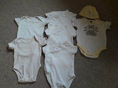 AU1.76 • Buy  Baby Boy Bodysuits 0-3 Months + Hat . Mothercare, F&F And M&Co.