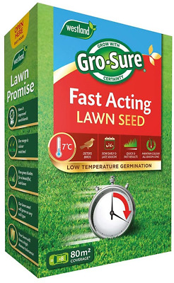 £35.66 • Buy Gro-Sure Fast Acting Grass Lawn Seed, 80 M2, 2.4 Kg