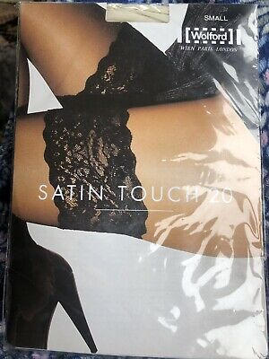 Wolford Satin Touch 20 , Off White, Small, New Unopened • 17.67£