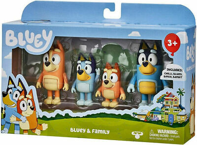 £19.59 • Buy Bluey's Family And Friends Pack Figures Chilly Bingo Snickers Coco Rusty Dog