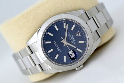 $ CDN11960.54 • Buy Rolex Datejust 41 126300 Automatic Watch Blue Dial (2021)
