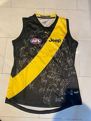 AU349.95 • Buy Richmond Tigers Signed 2020 Premiers AFL Jumper Gurnesey Jersey
