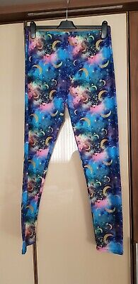 £14.95 • Buy Lucy Locket Loves Cosmic Sky Casual Leggings - Size 3 (Plus Size 20 22 24 26)