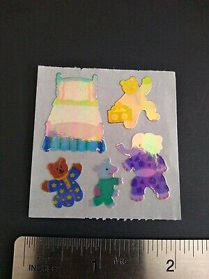 AU23.58 • Buy Vintage Sandylion Stickers 80s Pearly Bears Bedtime Sticker Mod RARE VHTF