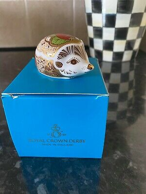 £50 • Buy Royal Crown Derby Strawberry Hedgehog Paperweight - New 1st Quality