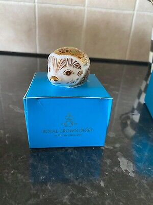 £50 • Buy Royal Crown Derby Ivy Hedgehog Paperweight - New 1st Quality