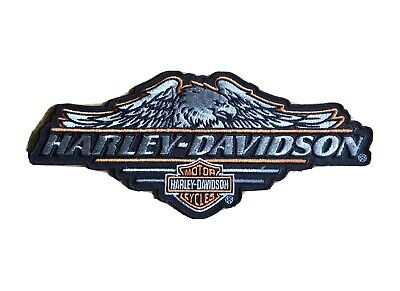 HARLEY DAVIDSON Embroidered Motorcycle Biker Patch Badge Iron/Sew On • 2.50£