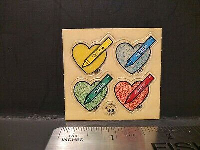 AU6.99 • Buy Vintage Stickers 80s BJs SEE THROUGH STICKERS Hearts Sticker Mod VTG RARE