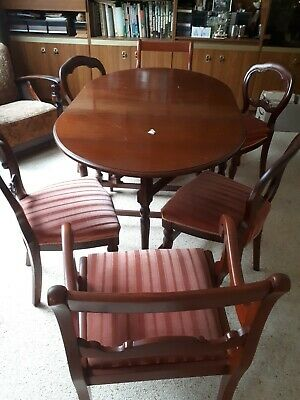 AU270 • Buy Antique Furniture Dining Table And Chairs