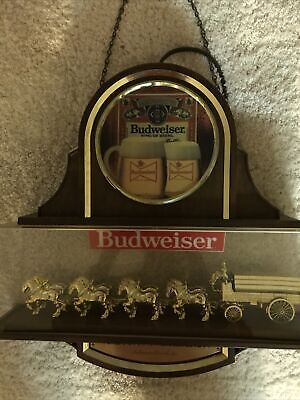 $ CDN120.92 • Buy Vintage Retro Budweiser Clydesdale Wagon Lite Up Hanging Sign