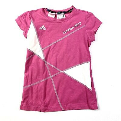 "£14.99 • Buy Adidas Vintage ""london 2012 Olympics"" Merchandise Pink T-shirt Age 11-12 Years"