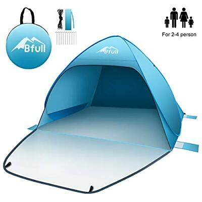 AU102.92 • Buy Pop Up Tent Beach Tent For 2-4 Man, Automatic Sun Tents Anti UV Compact