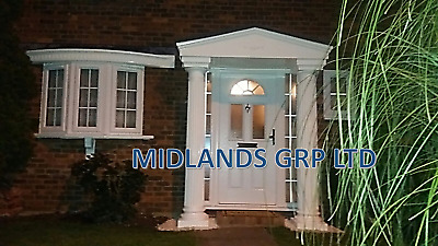 £769 • Buy Felicia GRP Door Entrance Canopy And Columns Package. Porch Entrance Kit